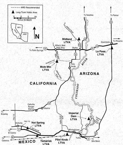 Map of Winter LTVAs