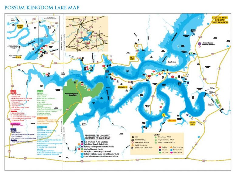 map of possum kingdom lake Bra 4 South South D D Graford Texas Free Campsites Near You map of possum kingdom lake